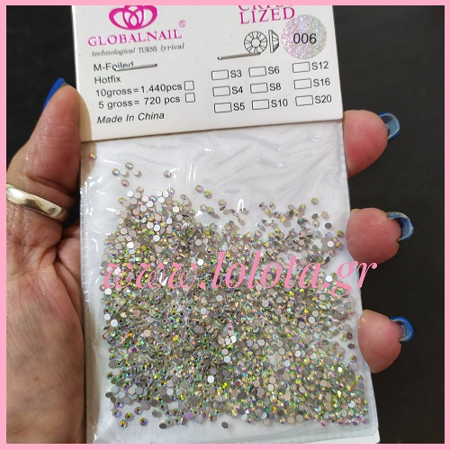 Στρας Νυχιών Global Nail Crystal Lized S6 2,00mm AB 720 pcs